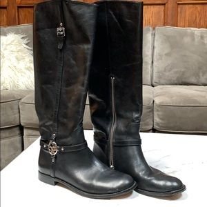 Flat knee high Coach boots